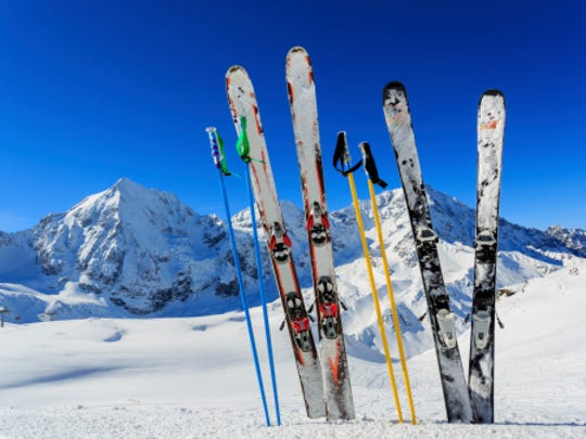 Skis, snowboards and other winter sporting goods typically