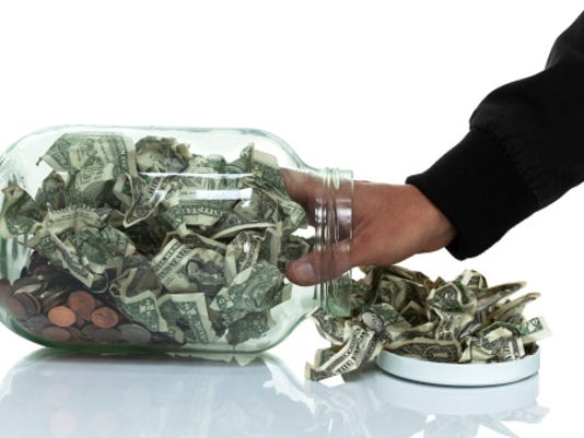 Charity theft Stock image