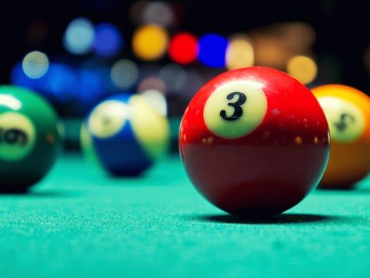 Billiard balls Stock Image
