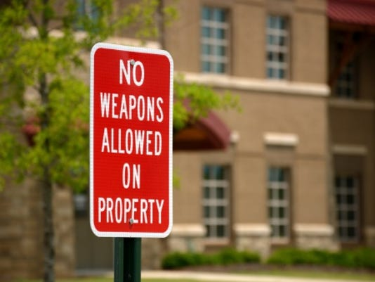 CPO-Stock - No guns on school grounds