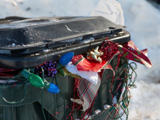 Keep your gift boxes in the trash can instead of out