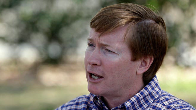 Florida Agriculture Commissioner Adam Putnam speaks with a reporter Tuesday, May 9, 2017, in Bartow.