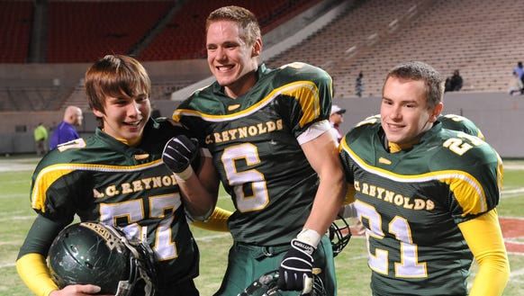 Former football standout Ben Councell (6) is part of
