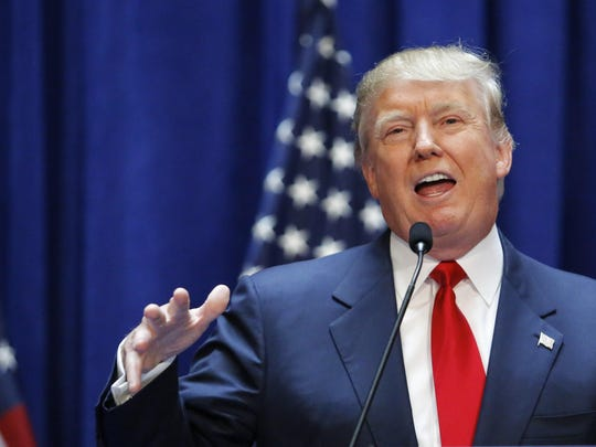 Real estate mogul Donald Trump announces his bid for