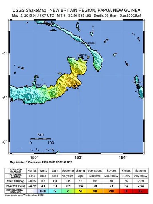 EPA PAPUA NEW GUINEA EARTHQUAKE DIS EARTHQUAKE PNG