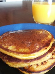 Pumpkin pancakes are a great way to start your day