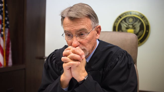 """United States federal Judge Robert Brack hears a lot of immigration cases in his U.S. District Court in Las Cruces. """"I really do have a lot of empathy for the people that I see, because I'm a husband and a dad myself,"""" Brack said. """"I'd like to think that I have the same courage and determination that they display in coming here to provide a better life for their families."""""""