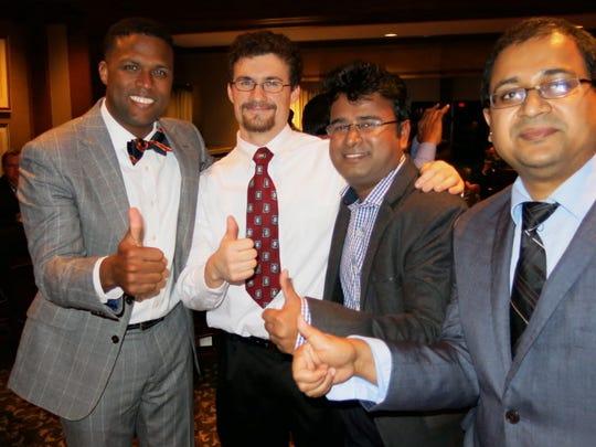 Isaac Palmer, Kevin Holly, Dr. Devi Prasad Patra and