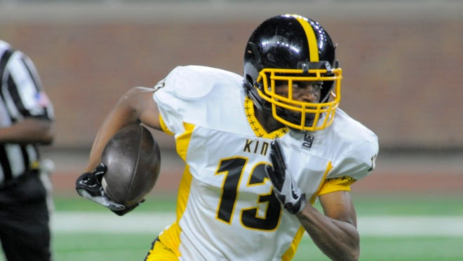 Detroit King's Ambry Thomas had 37 catches for 902 yards and 14 touchdowns while leading his team to a second consecutive Division 2 title.