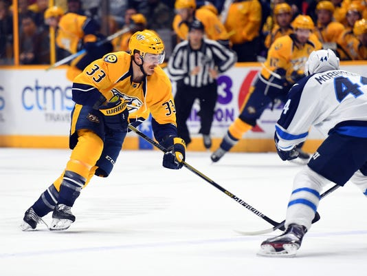NHL: Winnipeg Jets at Nashville Predators