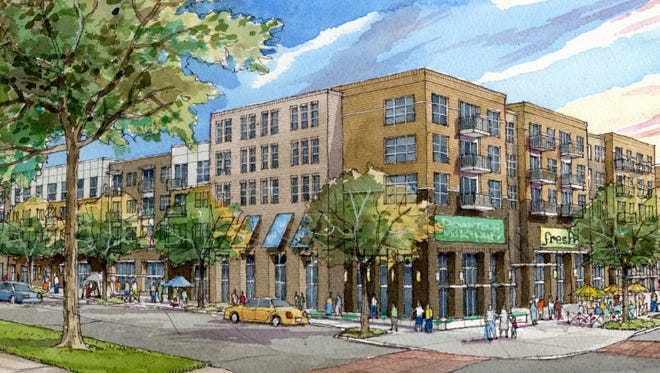One of the possibilities presented to the City Council on Thursday night included mixed-use buildings, with retail and housing.