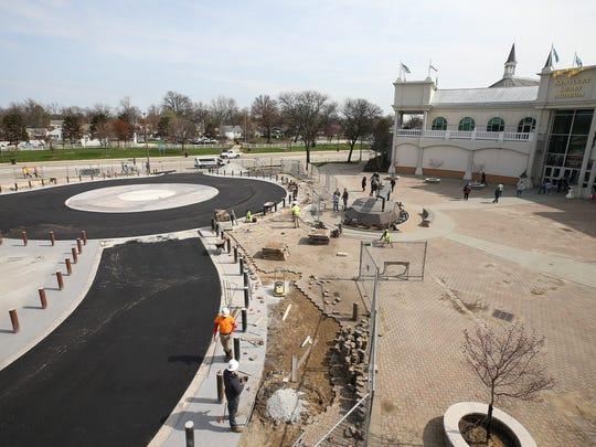 A renovation of the entrance near Gate 1 and the Derby Museum at Churchill Downs.April 6, 2018