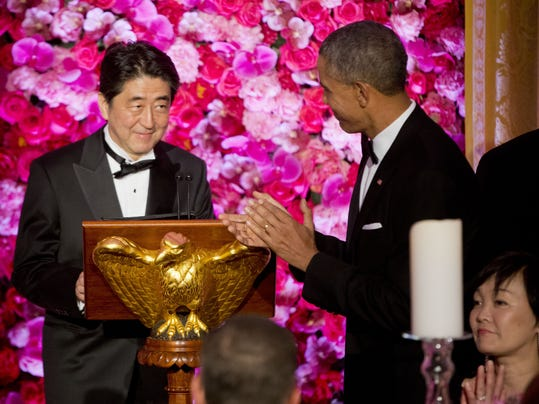 Barack Obama, Shinzo Abe, Akie Abe,