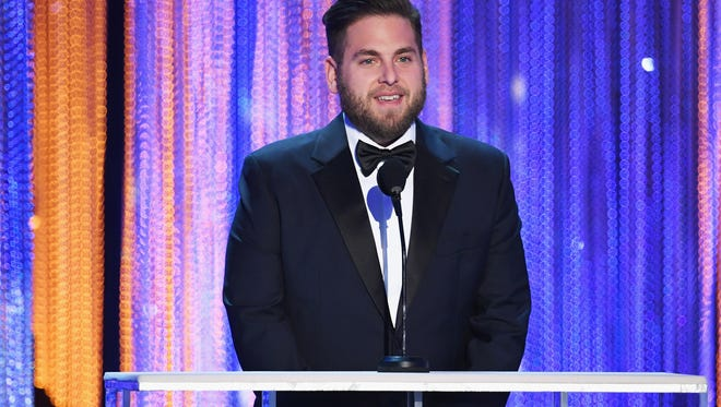 Actor Jonah Hill speaks onstage during The 23rd Annual Screen Actors Guild Awards at The Shrine Auditorium on January 29, 2017 in Los Angeles, California.