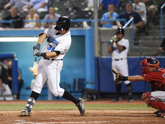 Renegades' Nathaniel Lowe hits a two-run home run in