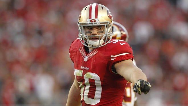 49ers linebacker Chris Borland in 2014.