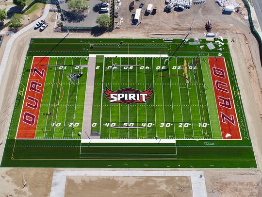 Ottawa University Arizona's Spirit Field in Surprise opened in October with football and men's and women's soccer games.