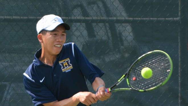 Marquette's Nick Yang playted at the individual state tournament last week.