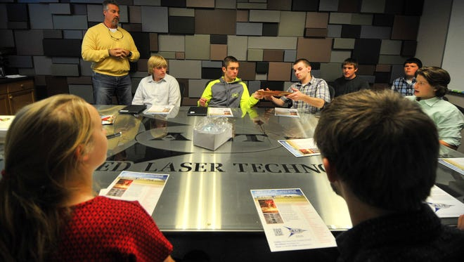 D.C. Everest High School students tour Applied Laser Technologies in Weston as part of learning about entrepreneurship on Friday, Oct. 9, 2015.