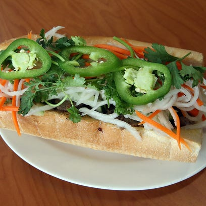 Banh mi sandwiches are among the most popular items