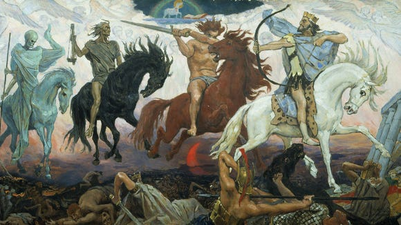"'The Four Horsemen of the Apocalypse"" by Vicktor Vasnetson, 1887"