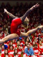 Southern Utah gymnast Autumn Jorgensen competes in