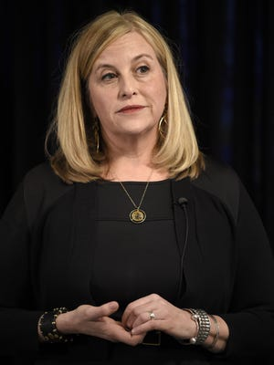 Nashville Mayor Megan Barry speaks to the media at her press conference at the Metro Courthouse Wednesday, Jan. 31, 2018, in Nashville, Tenn.