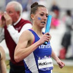 Eaton graduate Michelle McKinney runs during Day Two of the 2015 Southeastern Conference Track & Field Indoor Championships at the Nutter Field House in Lexington, Kentucky.