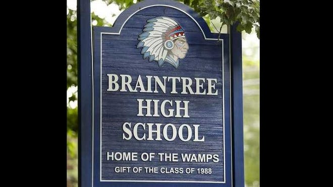 The Wamp will no longer look like a Native American man in a feathered headdress, but whether it remains the nickname of the high school's sports teams has yet to be decided.
