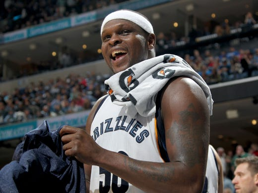 January 31, 2015 -  Memphis Grizzlies Zach Randolph