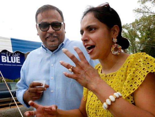 Vivek Deora, left and Maneet Chauhan attend MTSU and