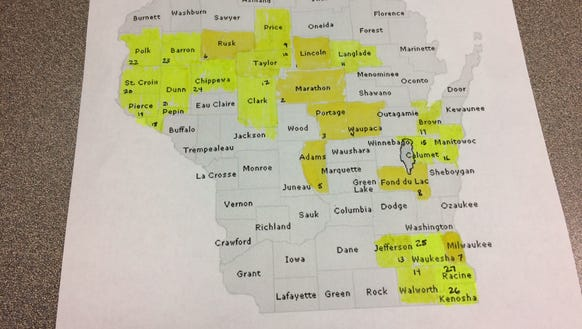 Twenty-seven out of 72 counties have been completed