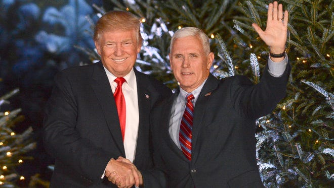 President Donald Trump and Vice-president Mike Pence