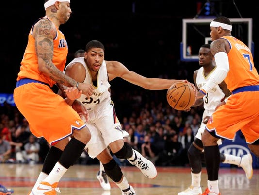 Pelicans Knicks Basketball