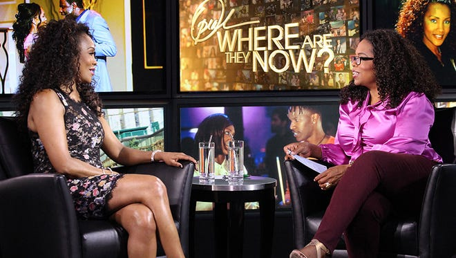 Vivica Fox chats with Oprah.