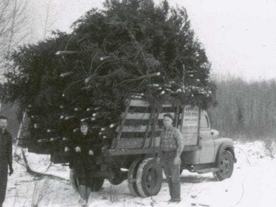 A photo shows members of the Noffke family carrying