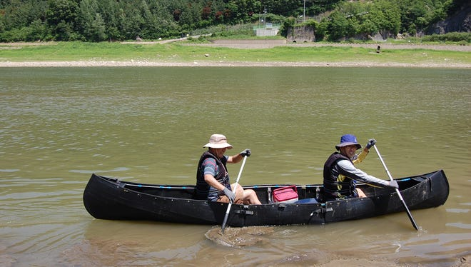 Makers of MyCanoe test their folding boat.