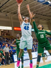 FGCU forward Tytionia Adderly was fine on point-blankers