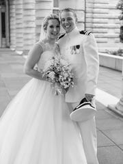 Lindsey Catherine Griffiths and Dr. Andrew George Marthy were united in marriage on May 6, 2017 at the United States Naval Academy Chapel in Annapolis, MD.