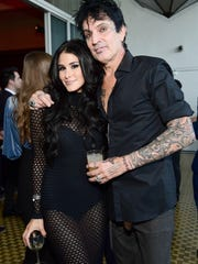 Brittany Furlan and Tommy Lee at the 2017 Streamy Awards at The Beverly Hilton Hotel.