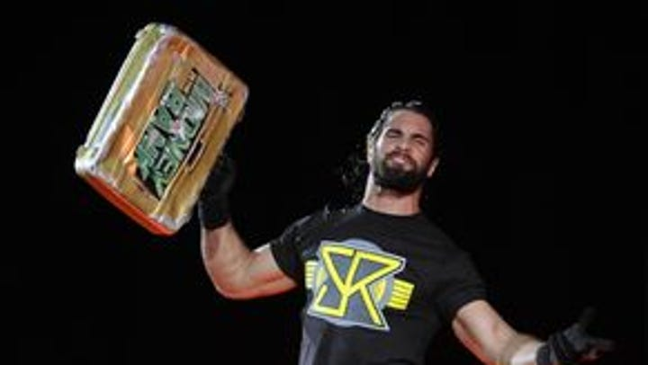 Seth Rollins at a live WWE event at Garrett Coliseum