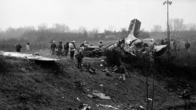 On December 13, 1977, the University of Evansville men's basketball team, coaches/staff, and fans, boarded a chartered DC-3 plane for a game in Nashville, TN against Middle Tennessee State University the next day.  Ninety seconds after take-off the plane crashed, killing 29, including the basketball team, head coach, 3 student managers, athletic business manager, UE comptroller, sports information director, a popular radio announcer, and 2 fans.