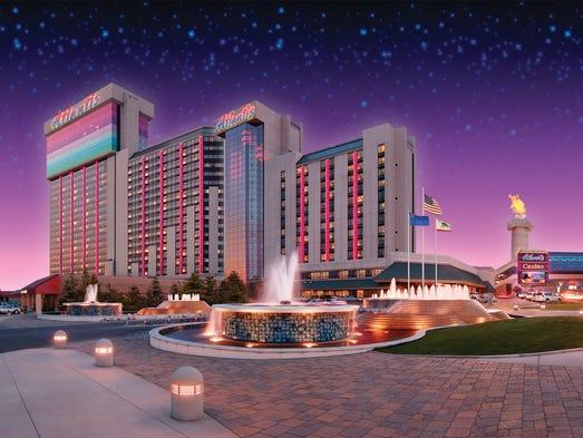 Exterior photo of the Atlantis Casino Resort Spa.