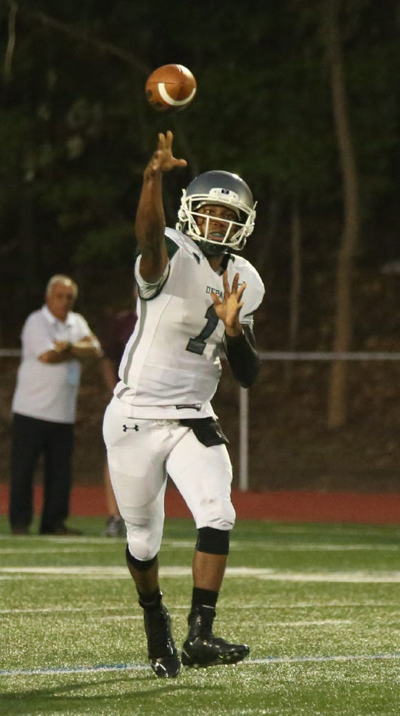 Find out where DePaul quarterback Taquan Roberson has the Spartans in the offensive scoring category.