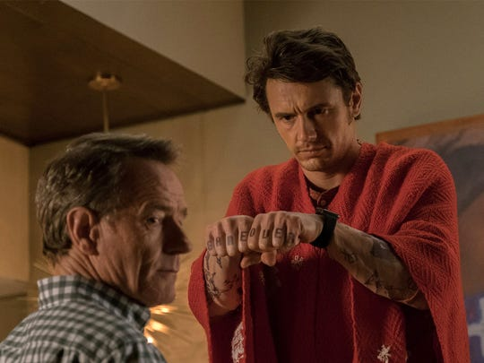 """Bryan Cranston and James Franco in the film """"Why Him?"""""""