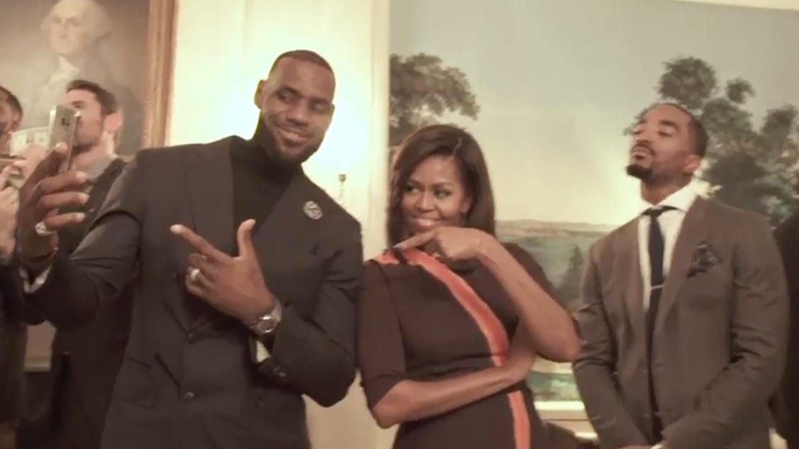 Cavs Do Mannequin Challenge With Michelle Obama