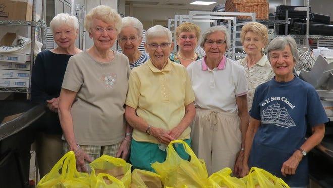 Front left, Jane Degnan, Beverly Hausker, Marion Veitch, Anne Dugan, Anita Nixon, Marguerite Edwards, Helen Diminescu, and Marian Roemlein