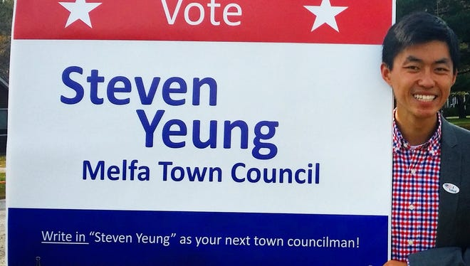 Steven Yeung is the youngest member of Virginia's delegation to the 2016 Democratic National Convention. Among his past political experiences, Yeung ran as a write-in candidate at age 19 for town council in Melfa, Virginia, his hometown.