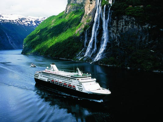 ms Maasdam in Norwegian Fjord