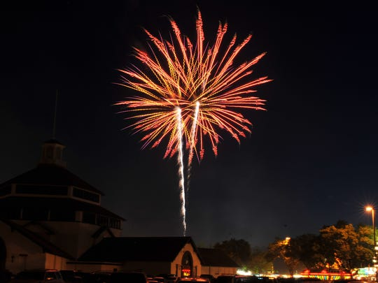Fireworks explode above Marathon Park on July 4, 2011.